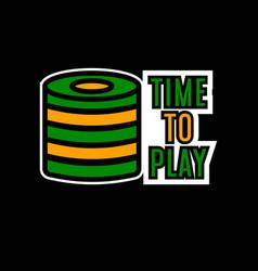 Casino poker logo template gambling bet chips vector