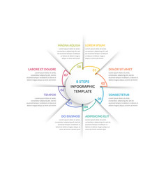 Circle infographics - eight elements vector