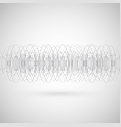circles on gray background vector image