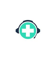 Clinic podcast logo icon design vector