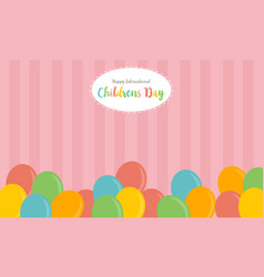 colorful balloon background childrens day vector image