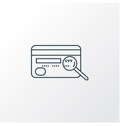 cvv icon line symbol premium quality isolated vector image