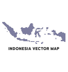 Dotted indonesia map vector