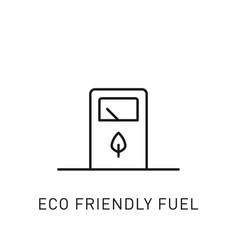 Eco friendly fuel thin line icon design element vector