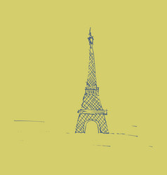Eiffel tower sketch style old engraving vector