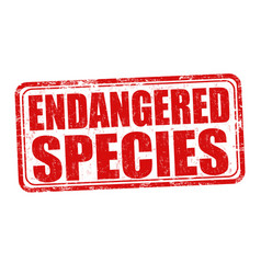 Endangered species grunge rubber stamp vector