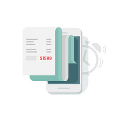 financial data report scheduling on mobile phone vector image