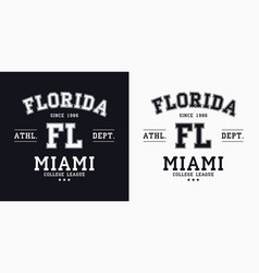 florida miami design for t-shirt college tee vector image