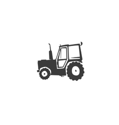 Fun tractor icon vector