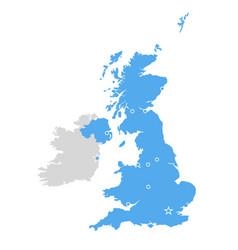 great britain map - united kingdom scotland vector image