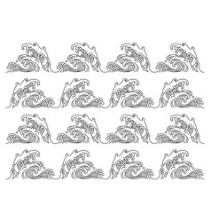 great sea wave pattern isolated on white vector image