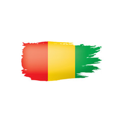 guinea flag on a white vector image