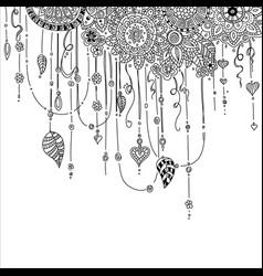 Hand drawing ethnic mandala ornament in ethnic vector