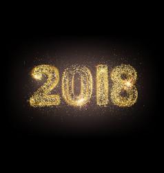 Happy new 2018 year card vector