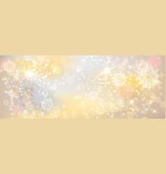 Holiday light banner vector
