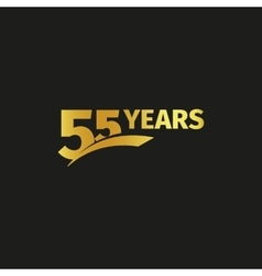 Isolated abstract golden 55th anniversary logo on vector image