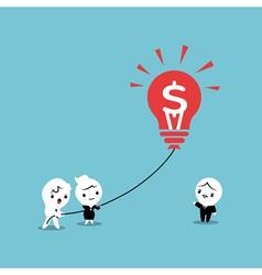 Lightbulb Business Balloon Idea vector image