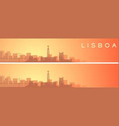 lisbon beautiful skyline scenery banner vector image