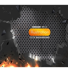 Lux Background with Flames vector