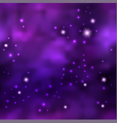 magic galaxy space with shiny nebula star dust vector image