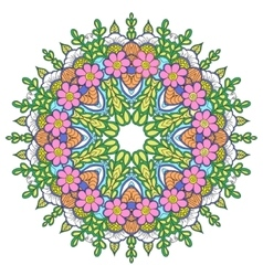 Mandala Round Ornament Pattern Vintage vector
