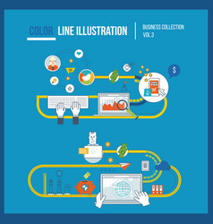 Marketing online shopping business protection vector