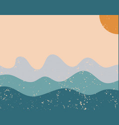 Modern abstract aesthetic background with sun vector