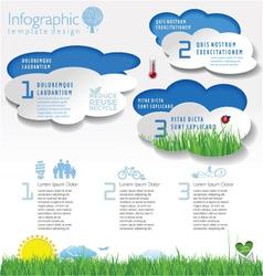 Modern ecology template vector