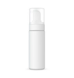 mousse bottle with pump mockup isolated vector image