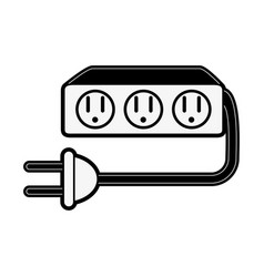 Multiple outlets with plug icon image vector