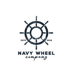 navy wheel logo graphic design template vector image