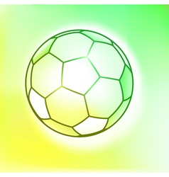 Outline watercolor soccer ball vector