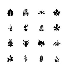 Plants - flat icons vector