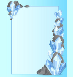 Precious stones and rock frame vector