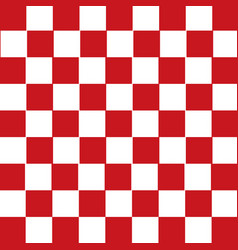 Red and white checkered background vector