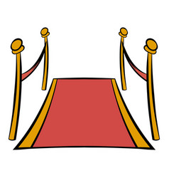 Red carpet icon cartoon vector