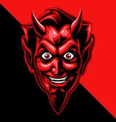 Red devil face vector