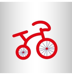 Red retro bicycle icon vector image