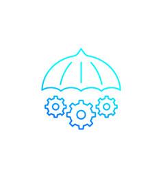 Risk management icon line vector