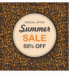 round background with dots summer sale vector image