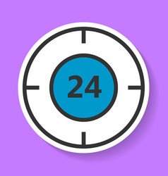 round-the-clock service icon vector image