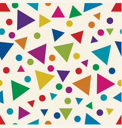 seamless pattern with colorful triangles and vector image