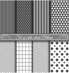 Set of black white Pattern vector