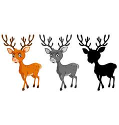 set of reindeer character vector image