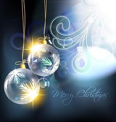 shiny christmas ball vector image