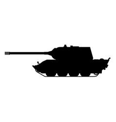 Silhouette tank german world war 2 tiger 3 heavy vector