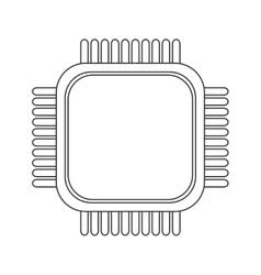 Simple cpu icon vector