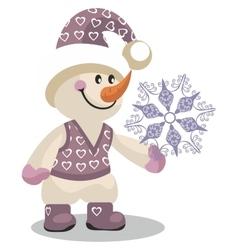 Snowman color 10 vector