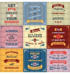 Success quotes set colored vector image
