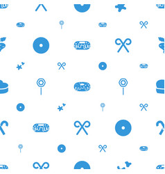 Sugar icons pattern seamless white background vector